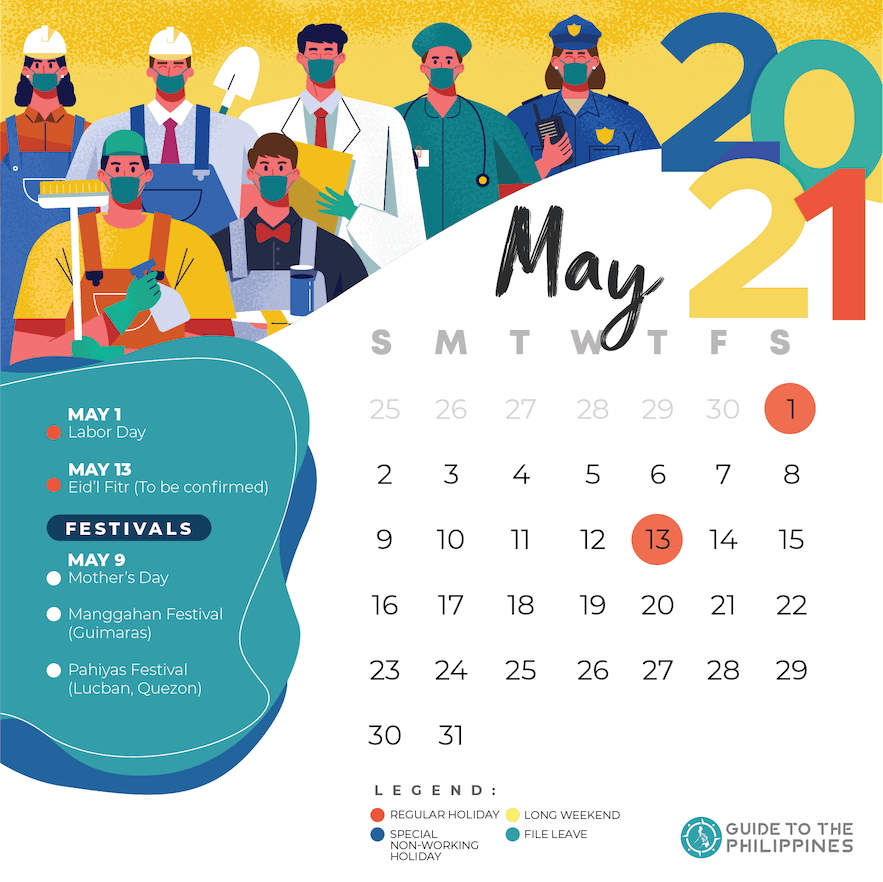 May 2021 holidays and long weekends in the Philippines