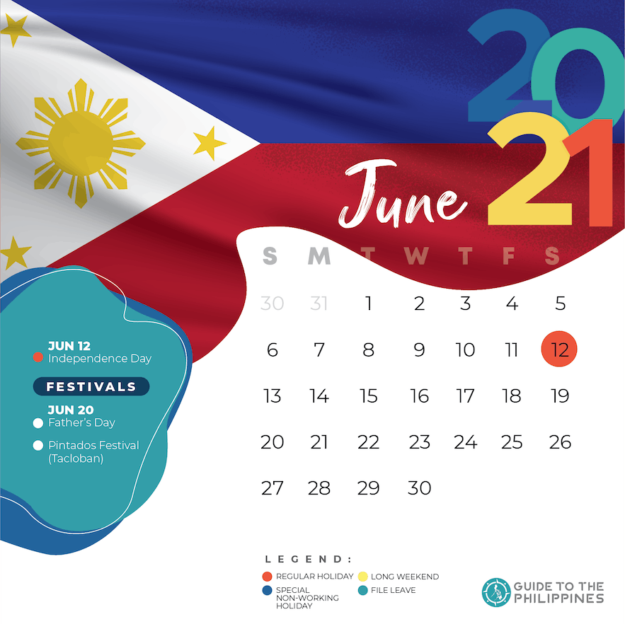 June 2021 holidays and long weekends in the Philippines