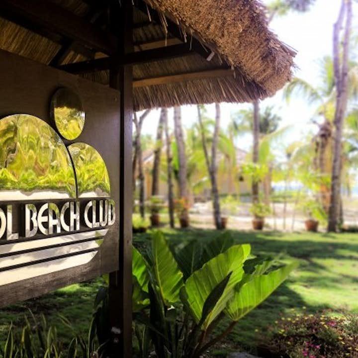 Bohol Beach Club Resort signage