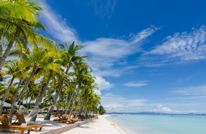 Private beach of Bohol Beach Club Resort