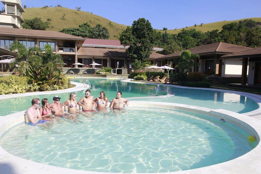 Pool area in Coron Soleil Garden Resort
