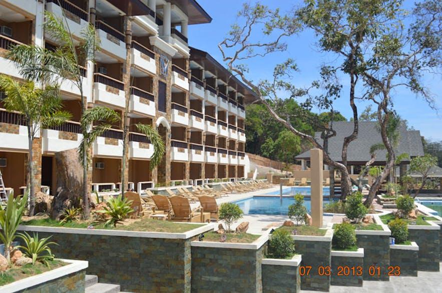 Outdoor pool area of Coron Westown Resort in Coron