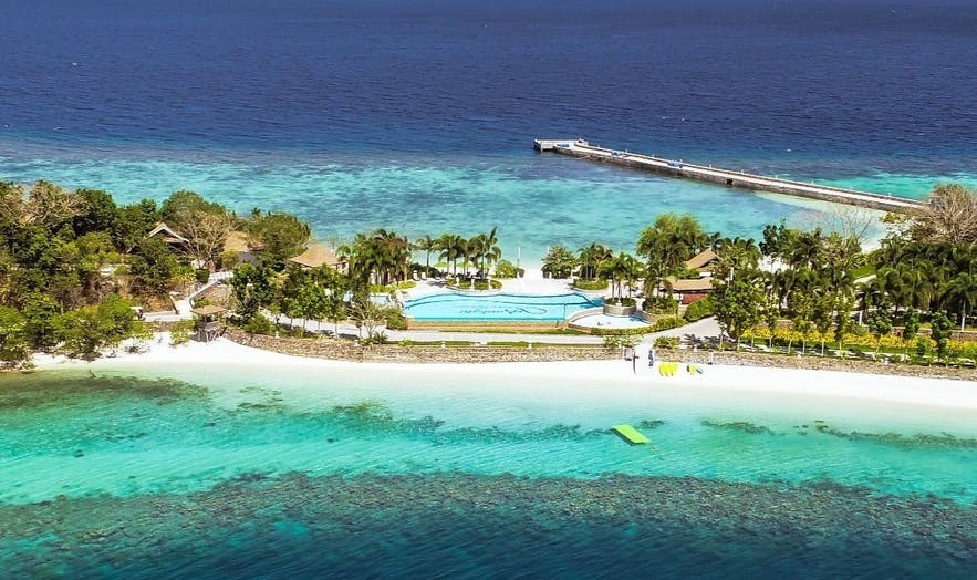 Aerial view of Sunlight Eco Tourism Island Resort