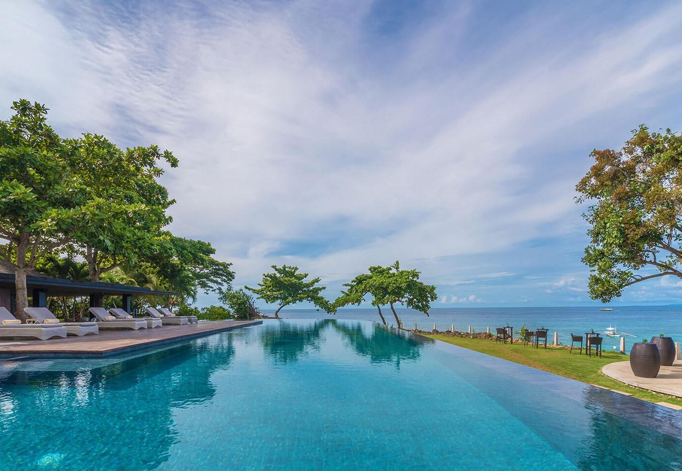 Clear waters of Amorita Resort pool