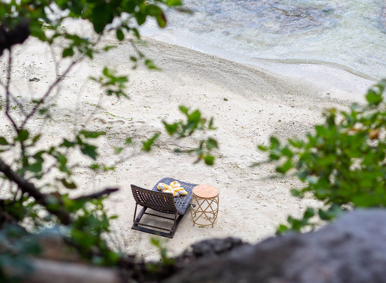 Private spot at the exclusive beach area of Amorita Resort