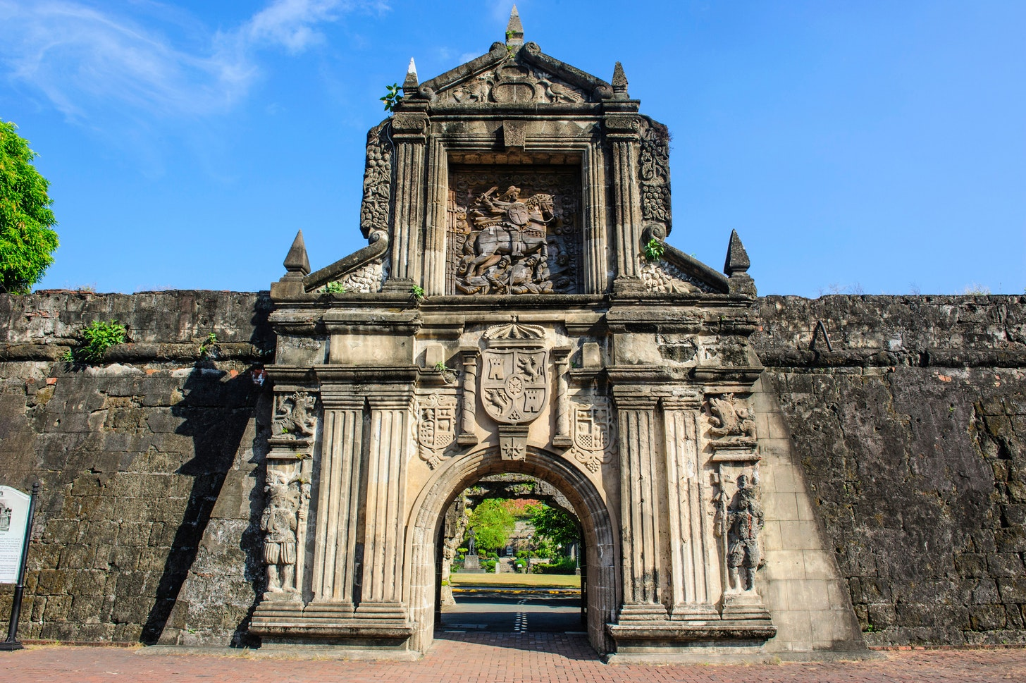 Iconic entrances of walled city Intramuros in Manila