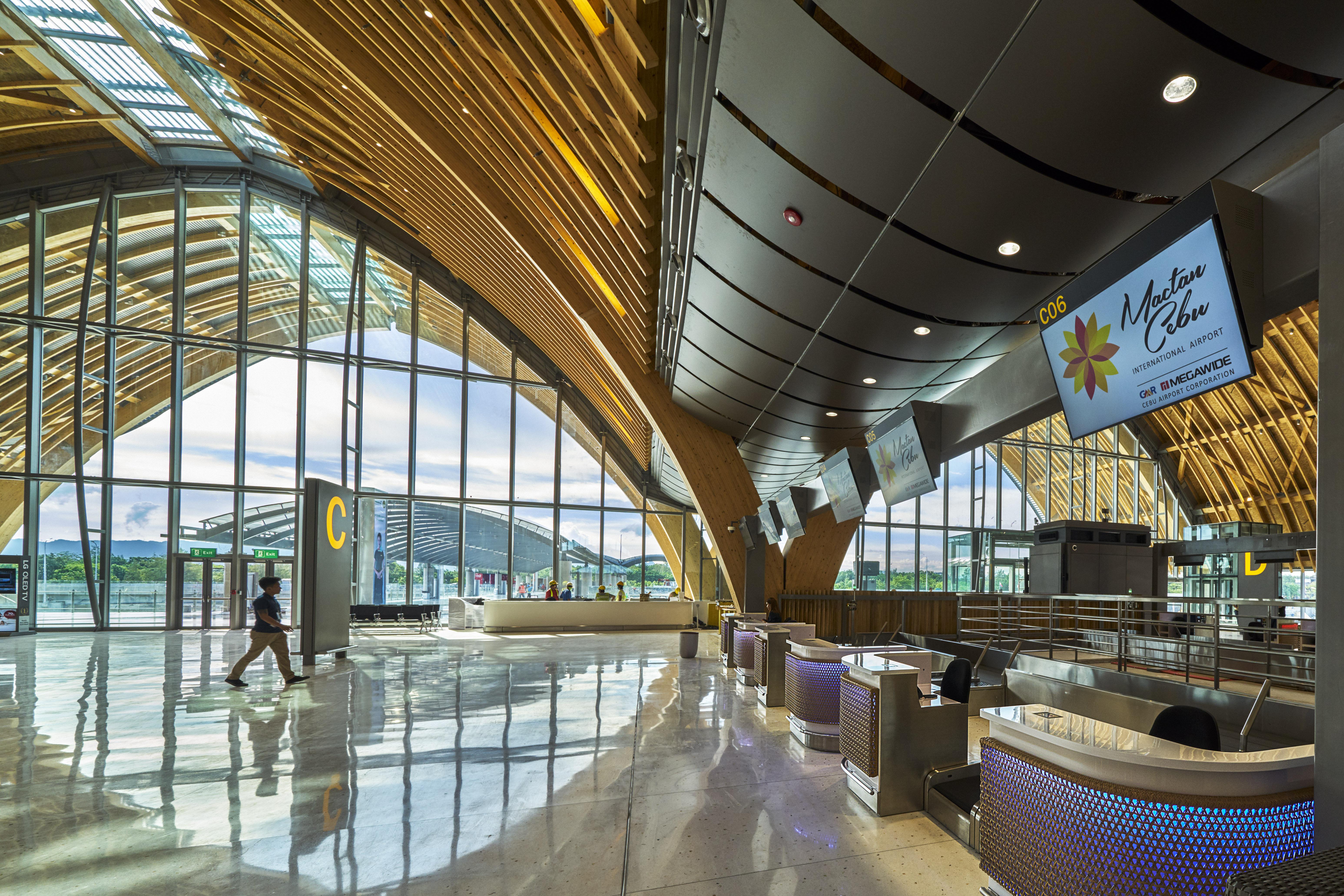 Modern interiors of Mactan-Cebu International Airport