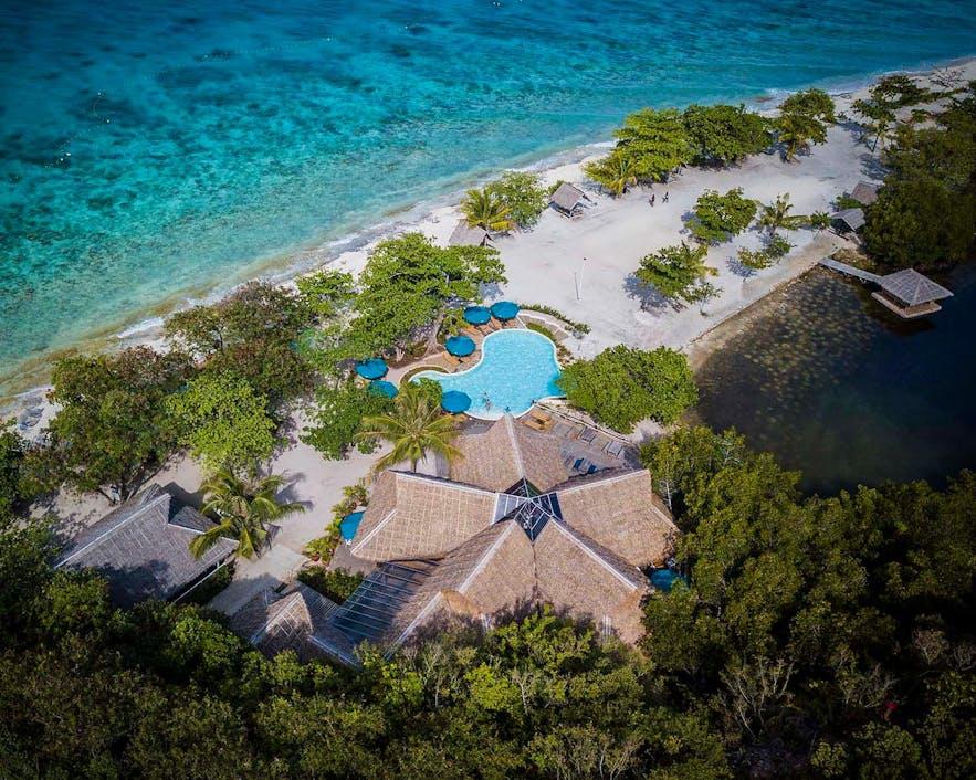 Beautiful aerial view of Bluewater Sumilon Island Resort