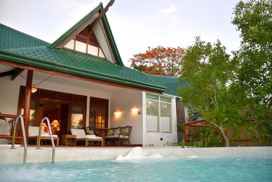 A villa in Badian Island Wellness Resort