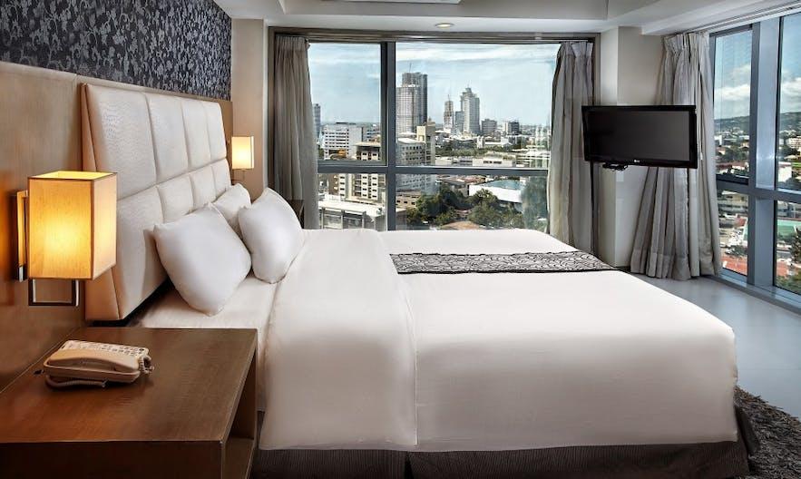 City view inside a room in Quest Hotel Cebu