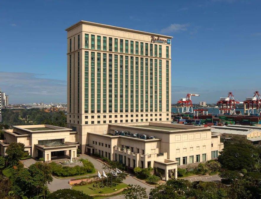 Facade of Radisson Blue Cebu Hotel