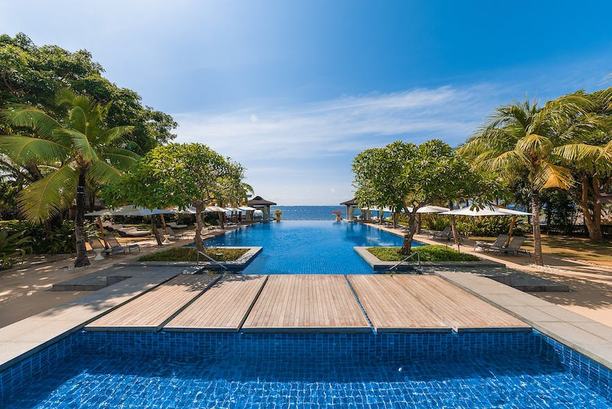 Stunning ocean view from the pool of Crimson Resort and Spa Mactan