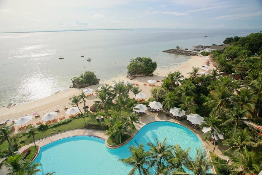 Aerial view of Shangri-La's Mactan Resort & Spa in Cebu