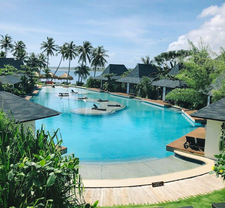 Pool area of Siargao Bleu Resort and Spa