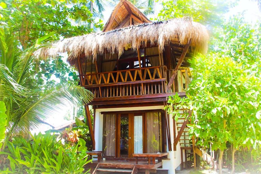 Hut in Harana Surf Resort in Siargao