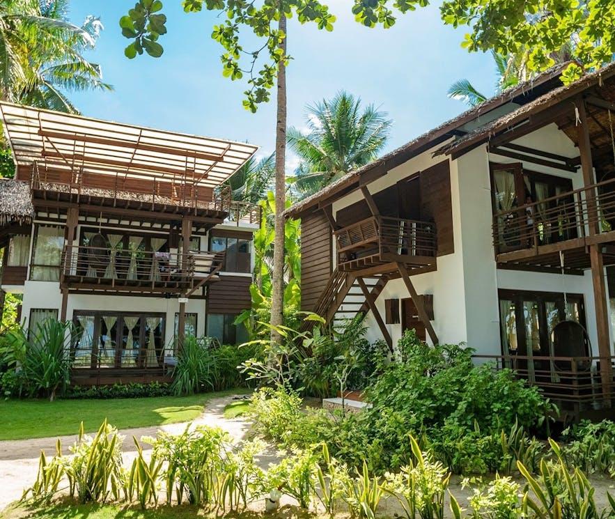 Hotel rooms in Siargao Island Villas