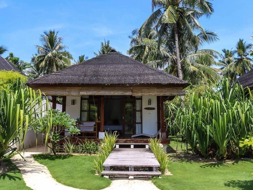 Entrance to a hut in Isla Cabana Resort
