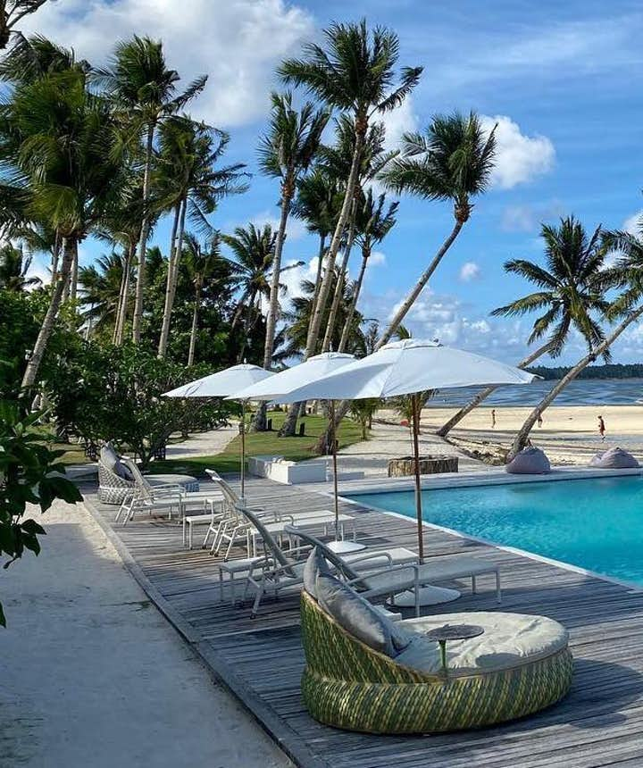 Ocean view from the pool area in Isla Cabana Siargao
