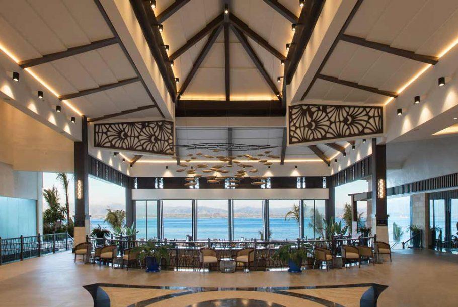 Calming view from this restaurant in Dusit Mactan Resort