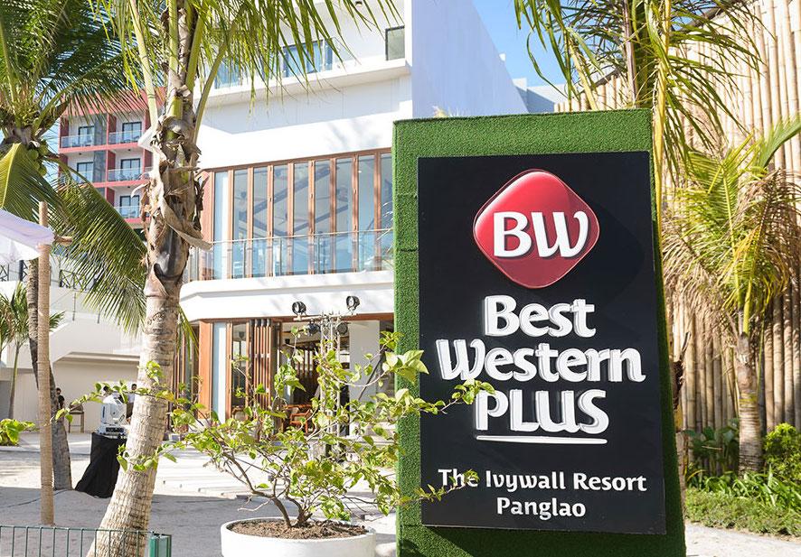 Entrance sign of Best Western Resort in Panglao Bohol
