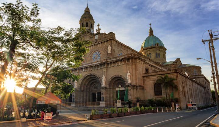 Facade of Manila Cathedral inside Intramuros