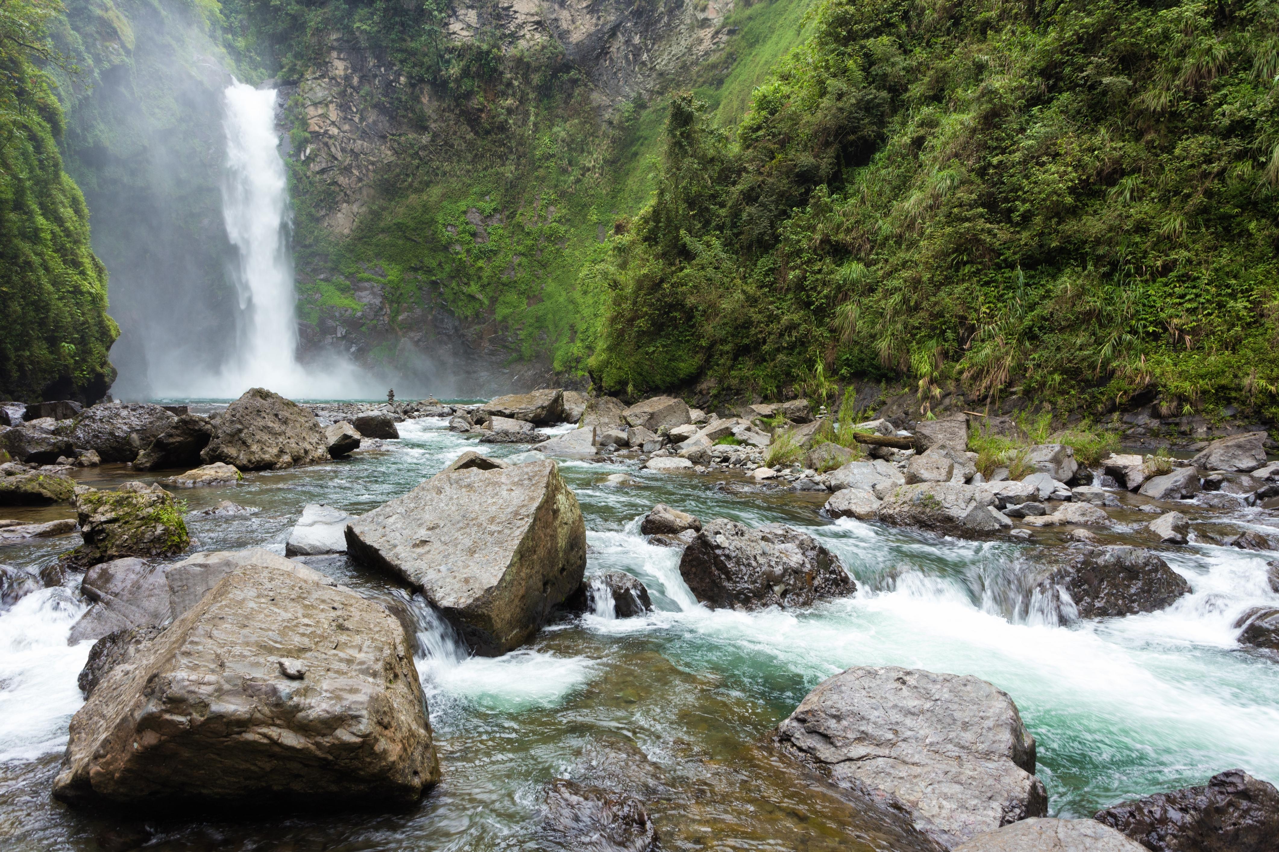 Gushing waters from the enchanting Tappiya Falls in Banaue