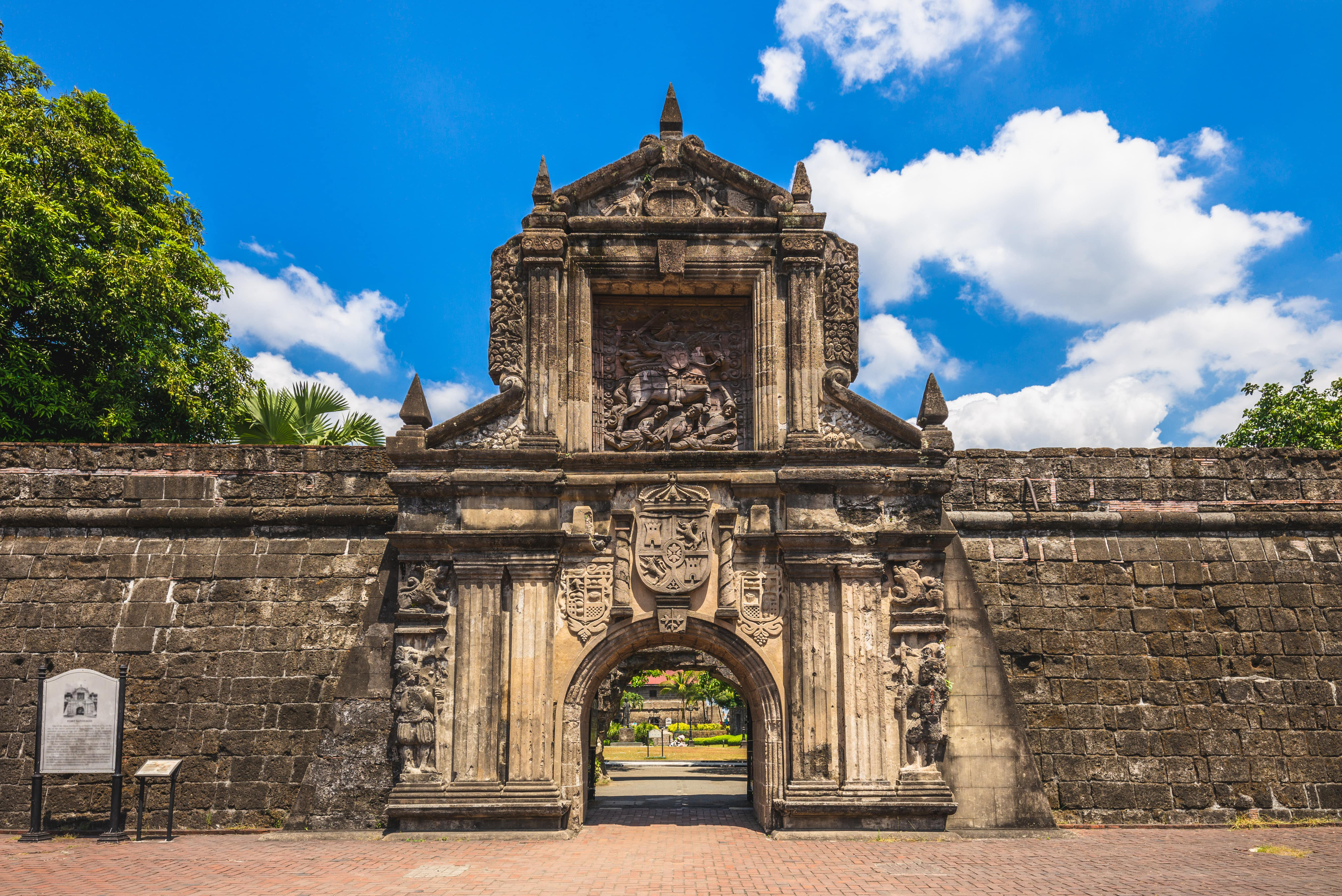 Sturdy and rustic facade of Fort Santiago in Intramuros