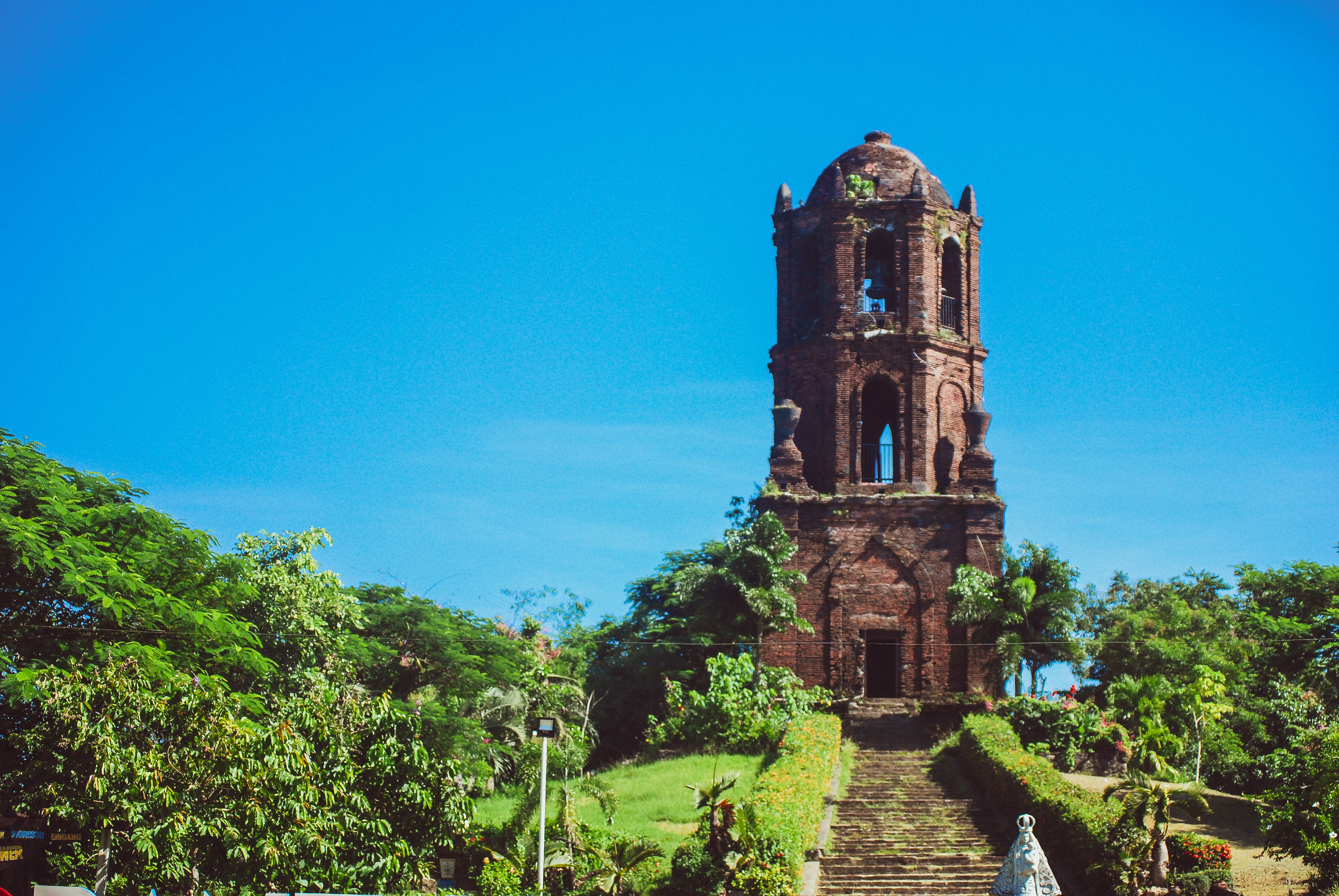 Tall structure of the Bantay Watch Tower, a popular attraction in Ilocos Sur