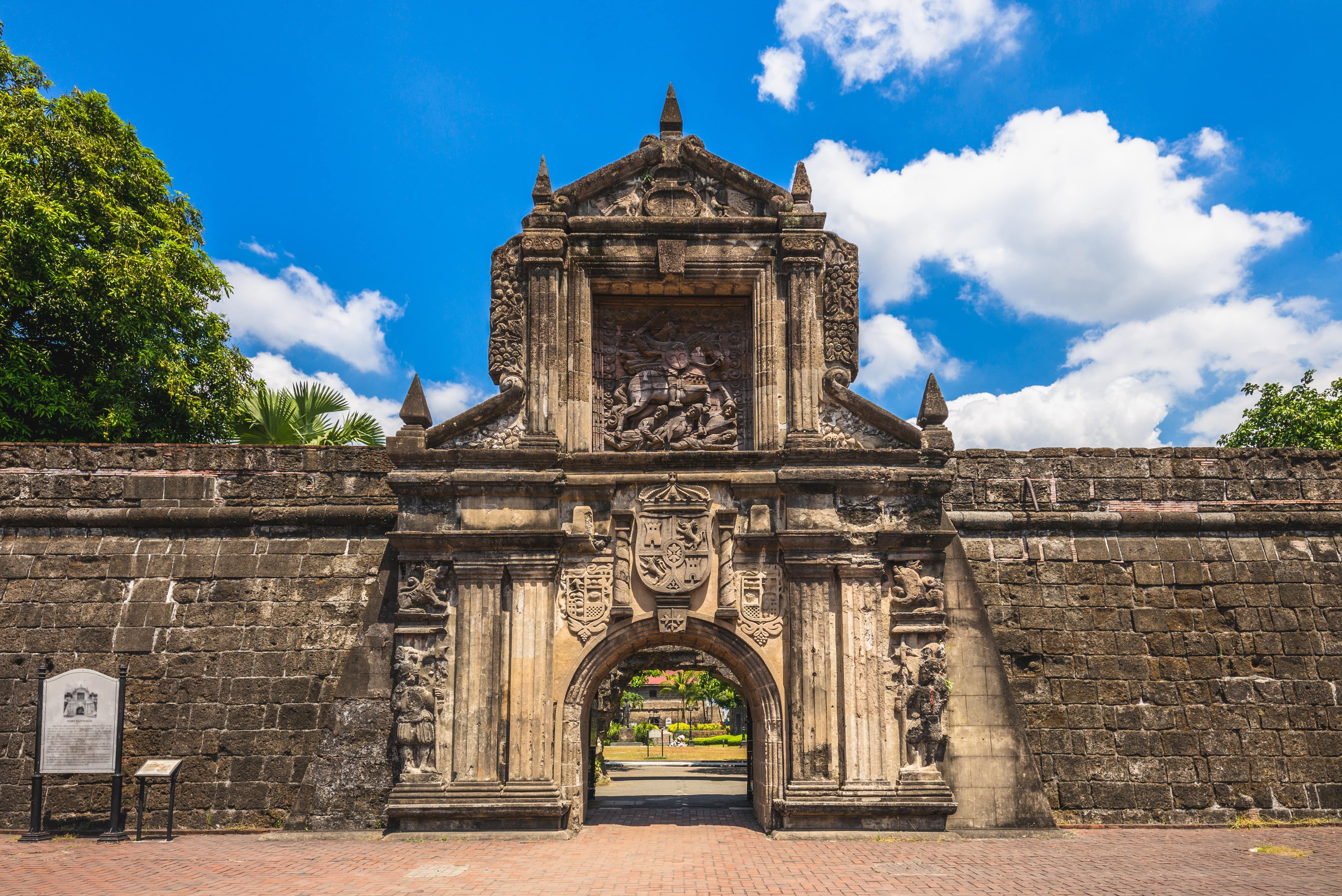 Sunny day in Fort Santiago in Intramuros
