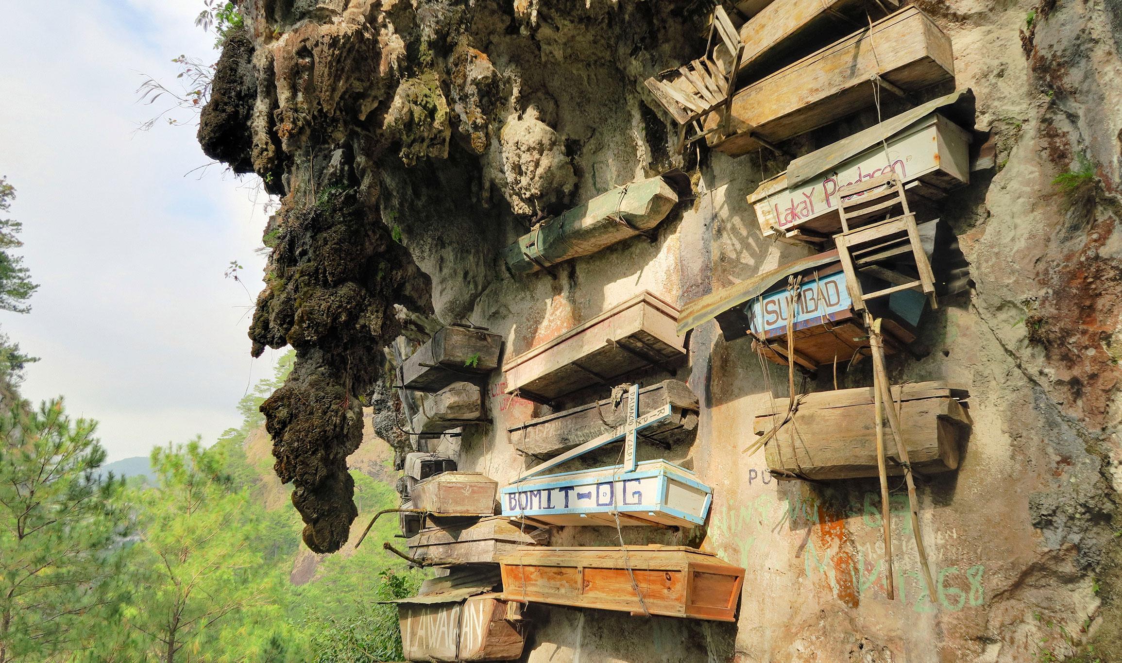 Hanging Coffins, a popular tourist attraction in Sagada