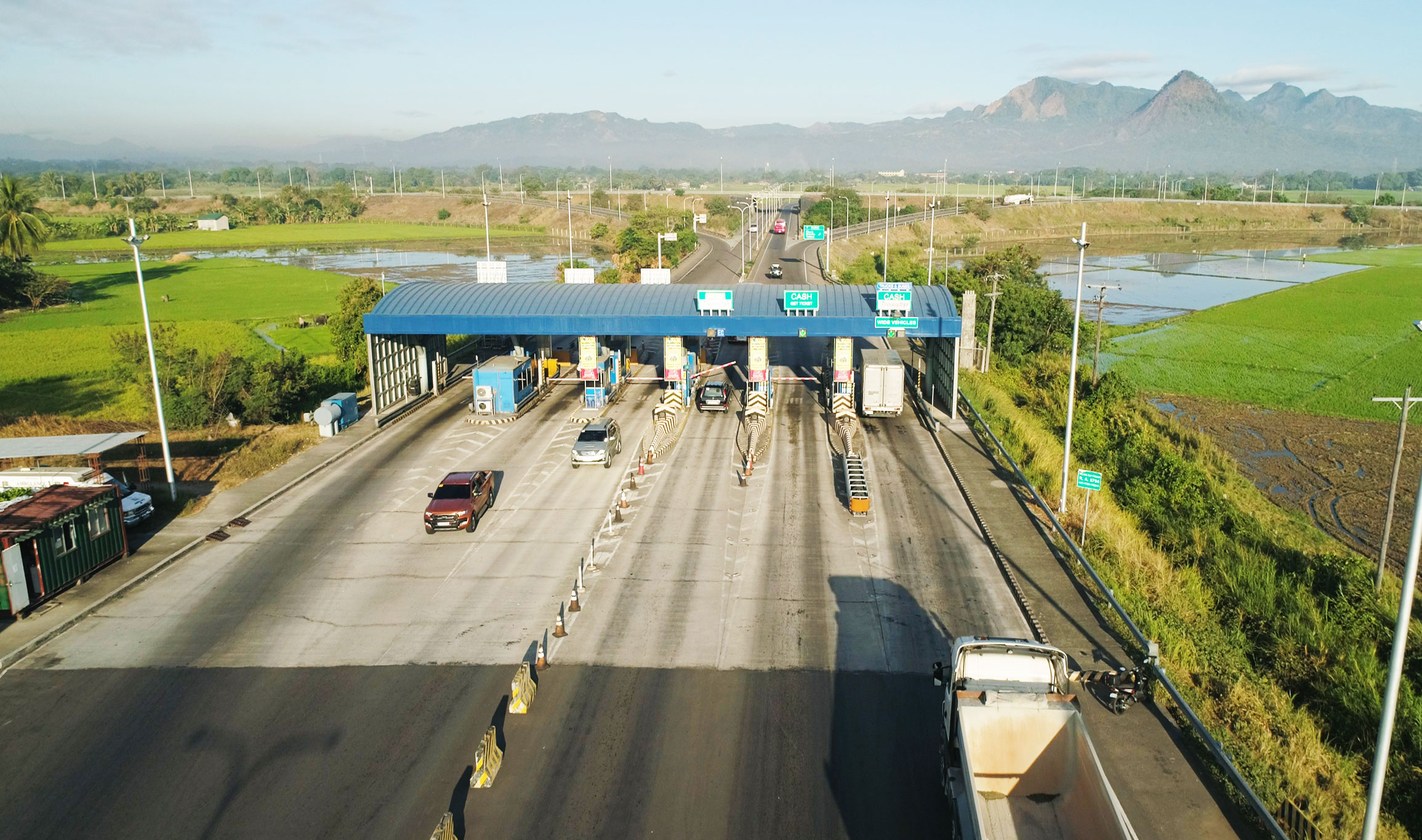 Toll gates in an expressway going to Manila