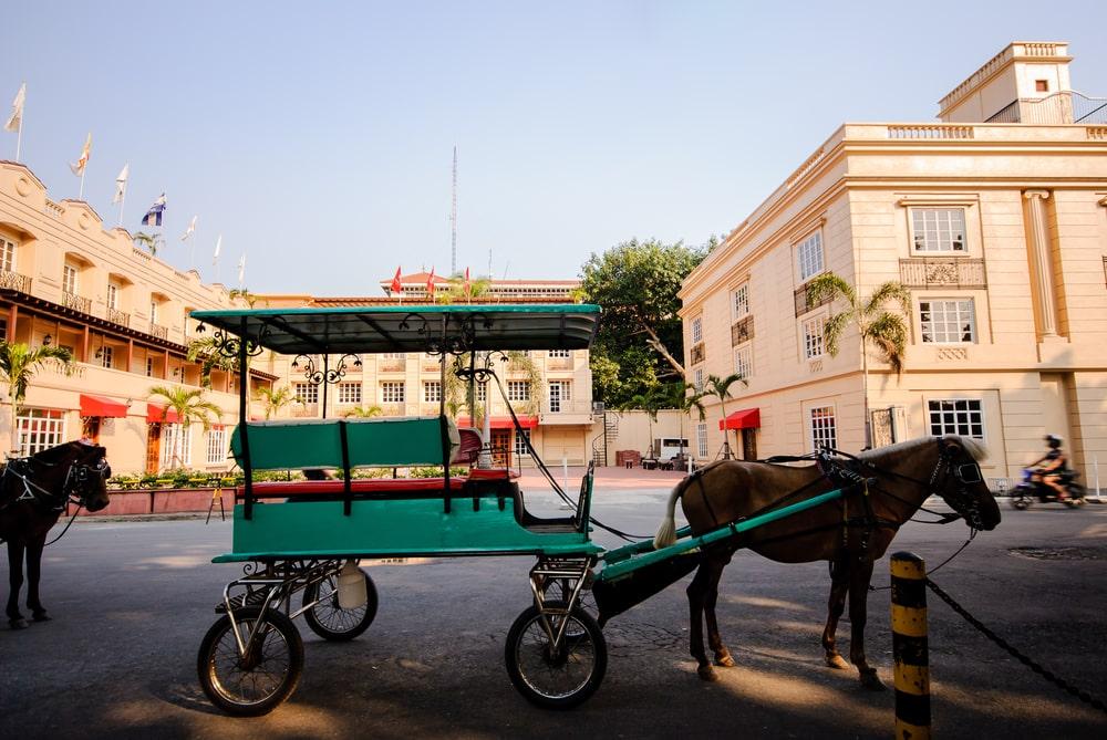 A horse-drawn carriage inside Intramuros Manila