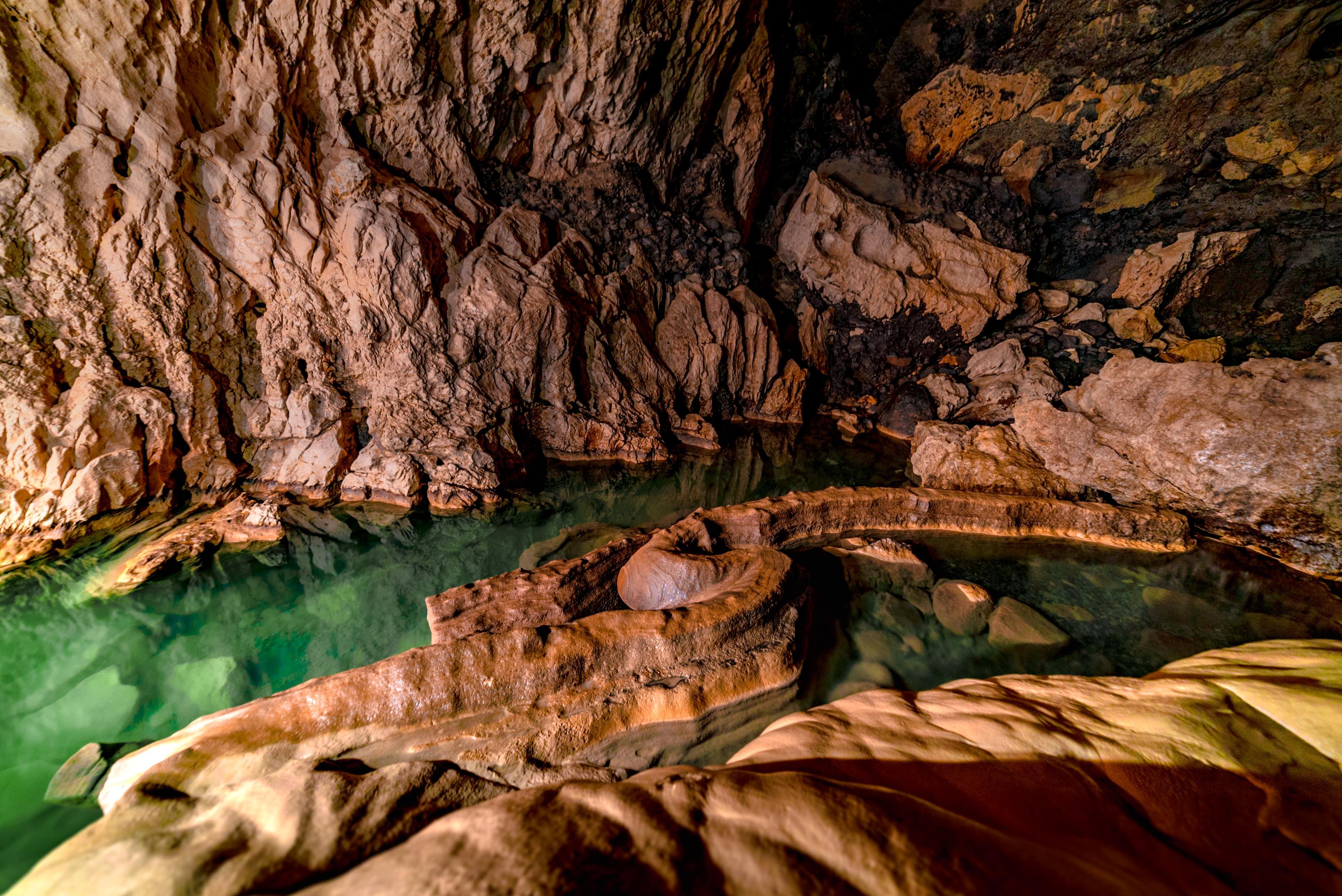 Enchanting colors inside Sumaguing Cave in Sagada