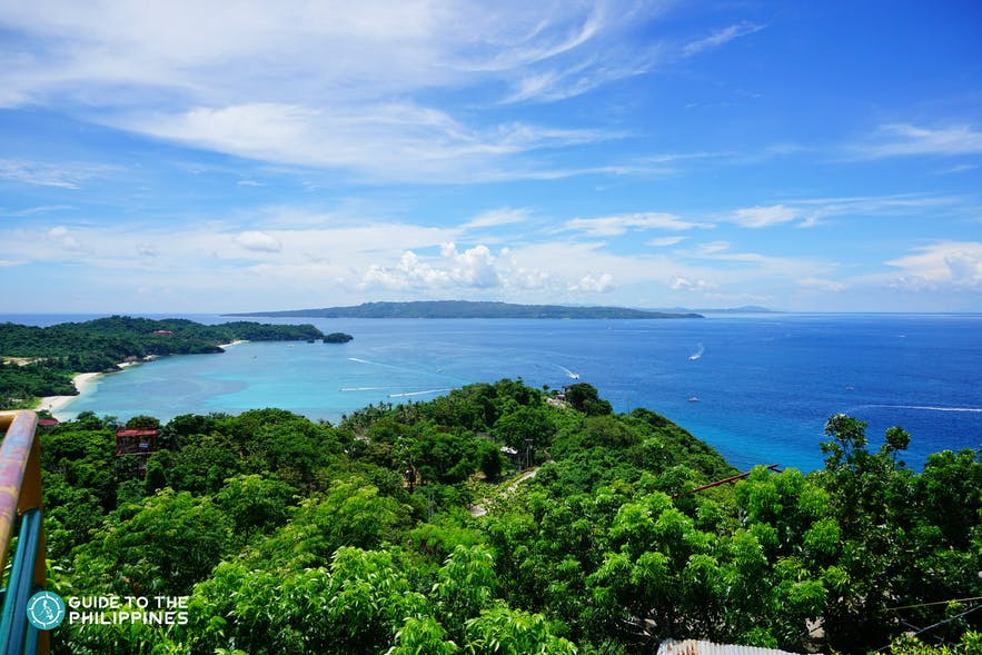 Scenic view from Mt. Luho in Boracay