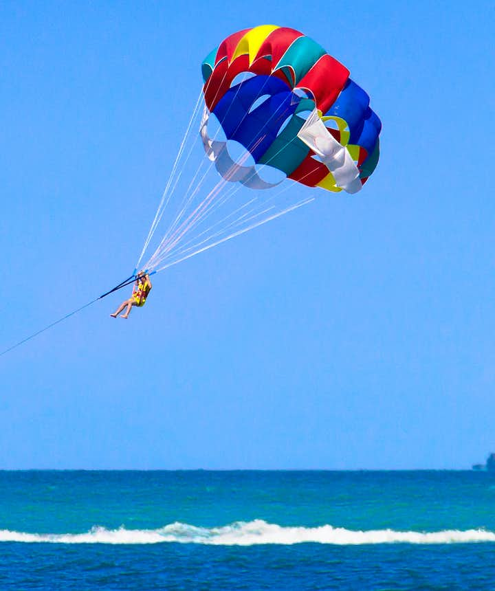 A shot of the parasailing experience in Boracay