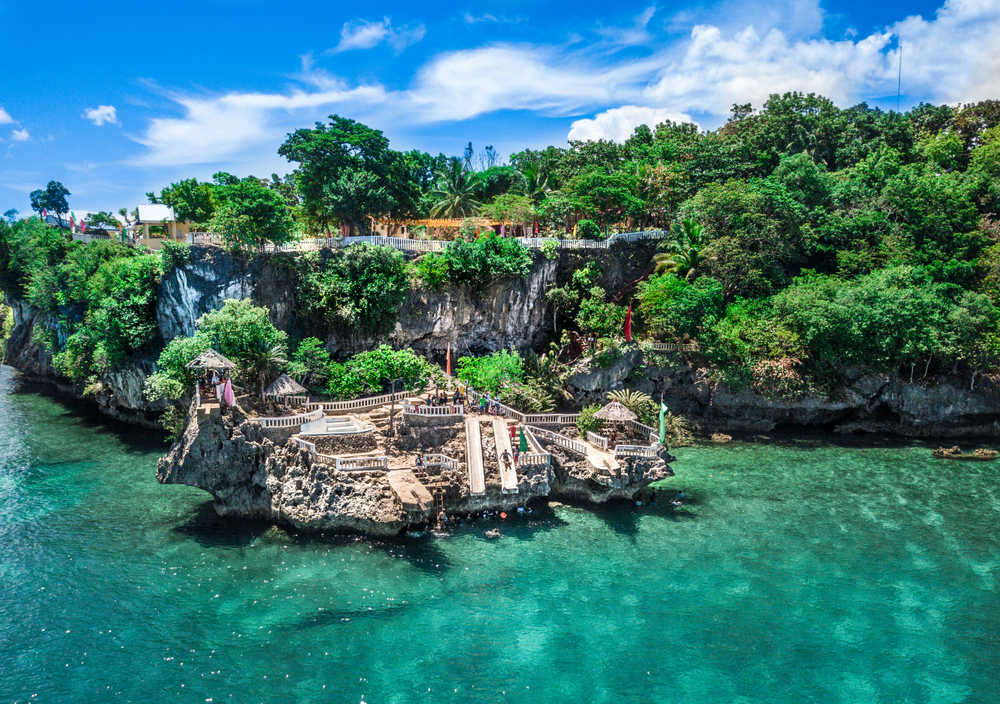 Area for cliff jumping in Camotes Island Cebu