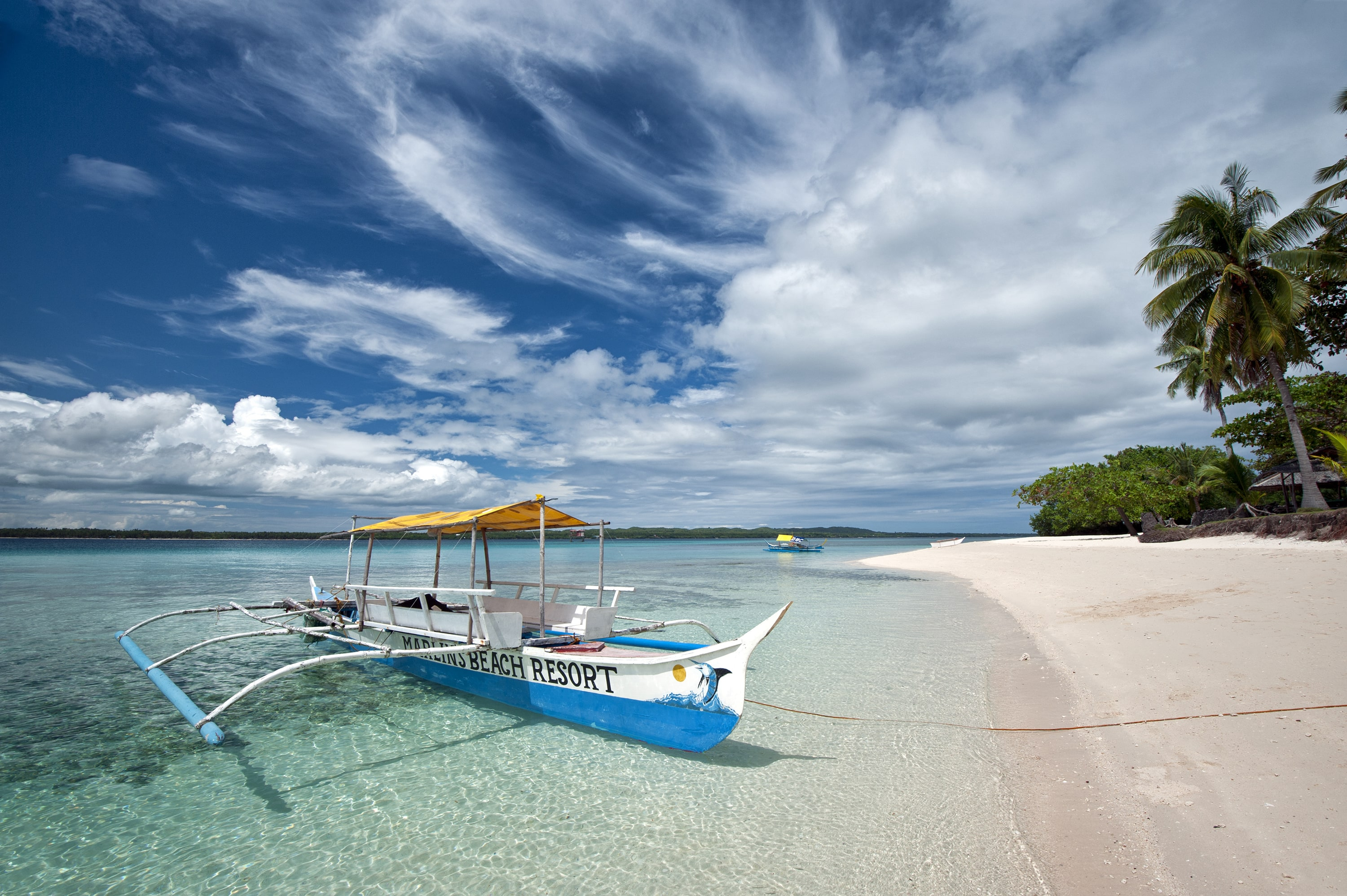 A tourist boat used for traveling to Bantayan Island
