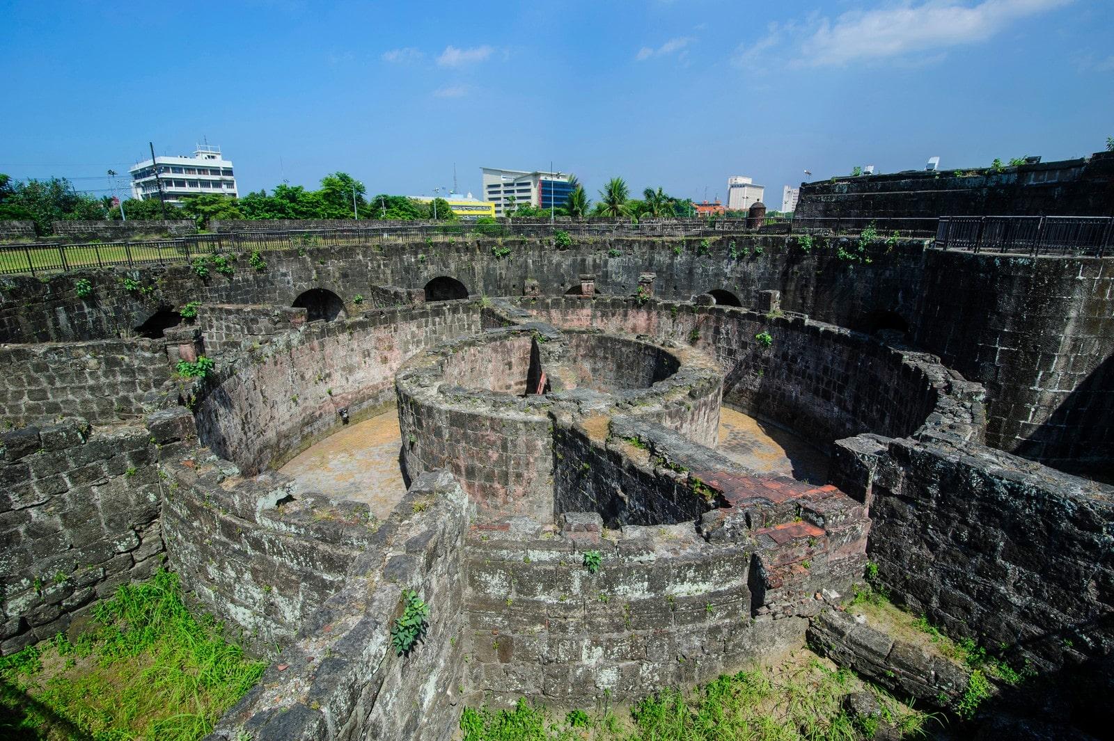 Ruins in Baluarte de San Diego in Manila