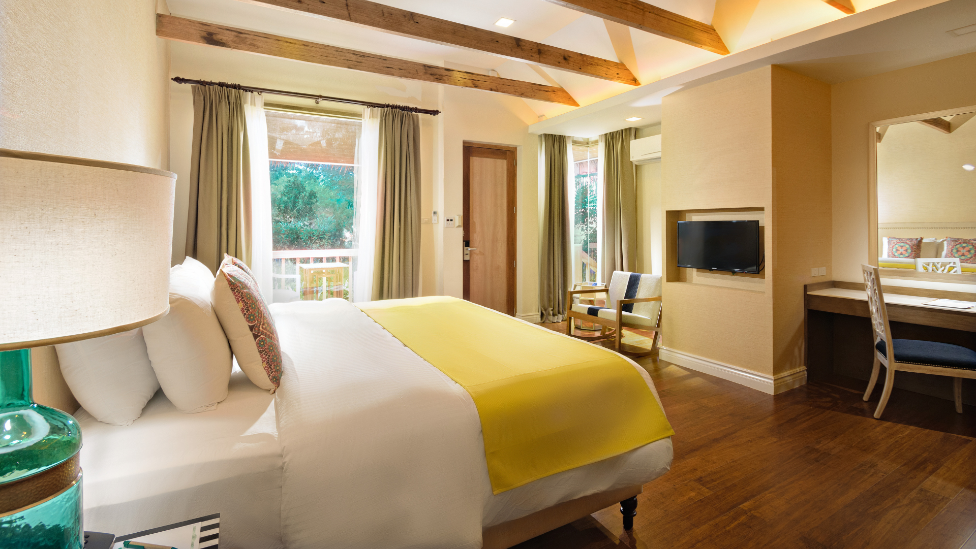 Deluxe bedroom in Mithi Resort and Spa in Bohol