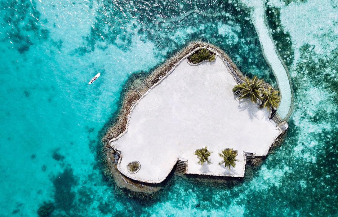 Dream Islet aerial shot in Mithi Resort