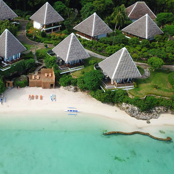 Beachfront area of Mithi Resort in Bohol