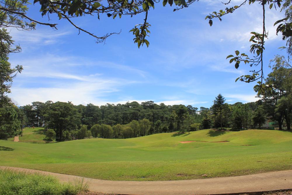 Open field at Camp John Hay in Baguio