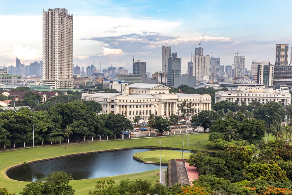 View of Manila from Intramuros