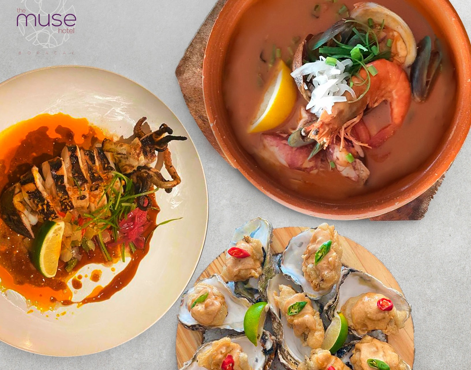 Mouthwatering food at a restaurant in The Muse Hotel