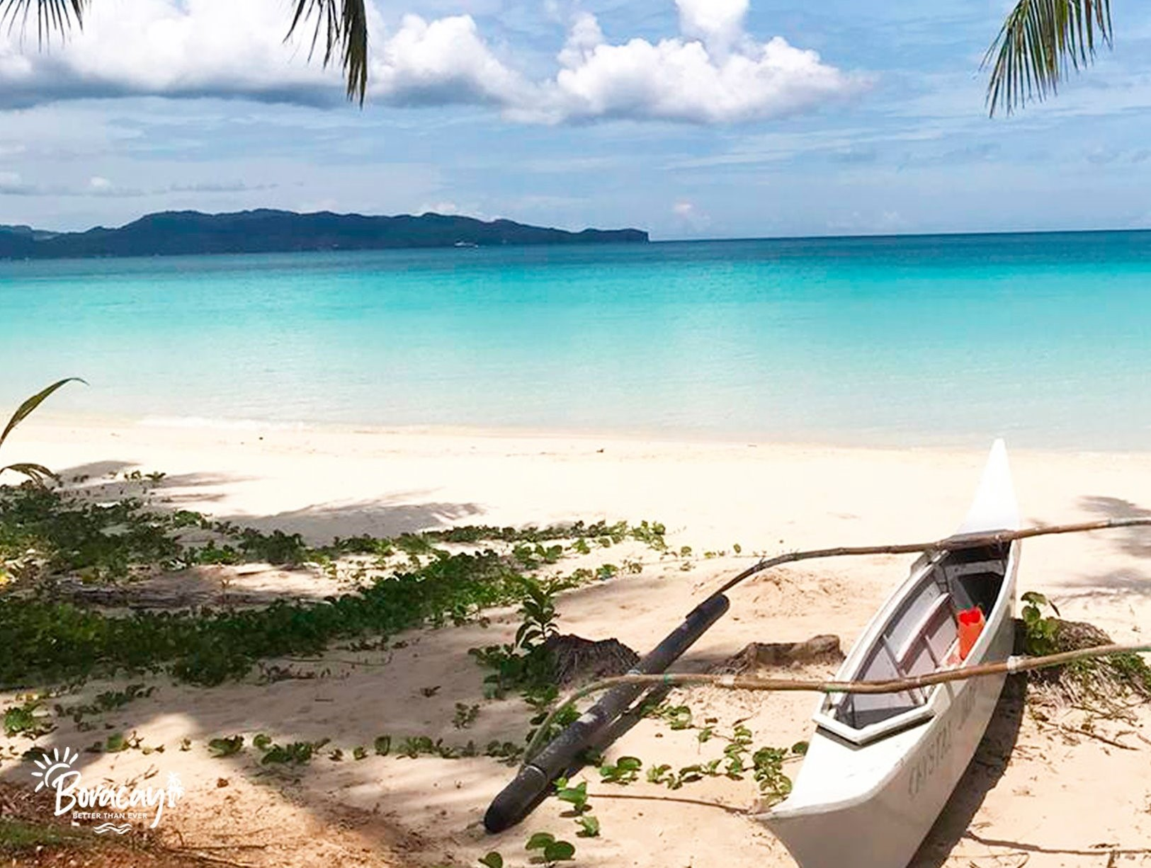 Blue waters and white sand beaches of Boracay