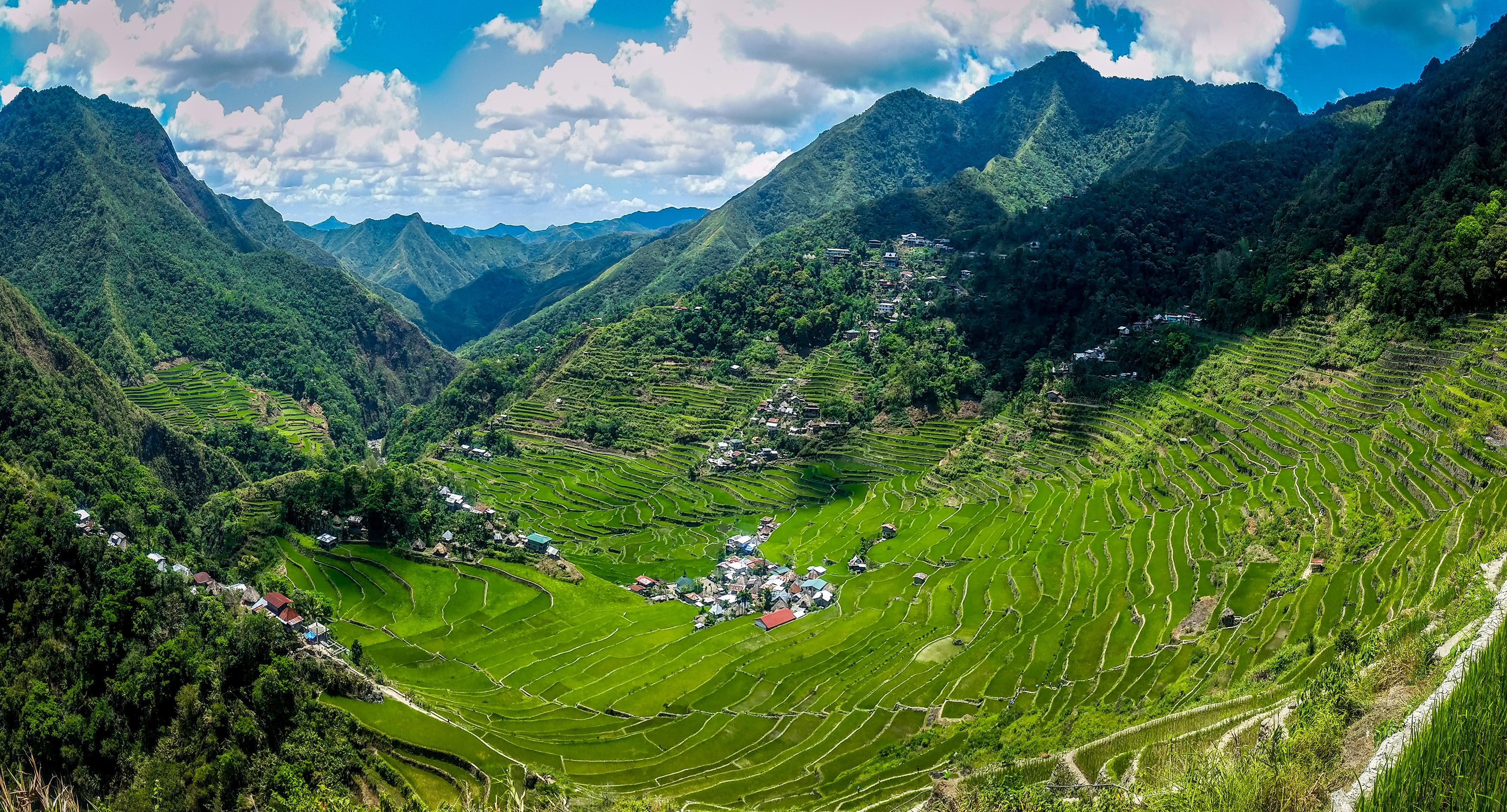 Beautiful scenery of the Batad Rice Terraces in Banaue