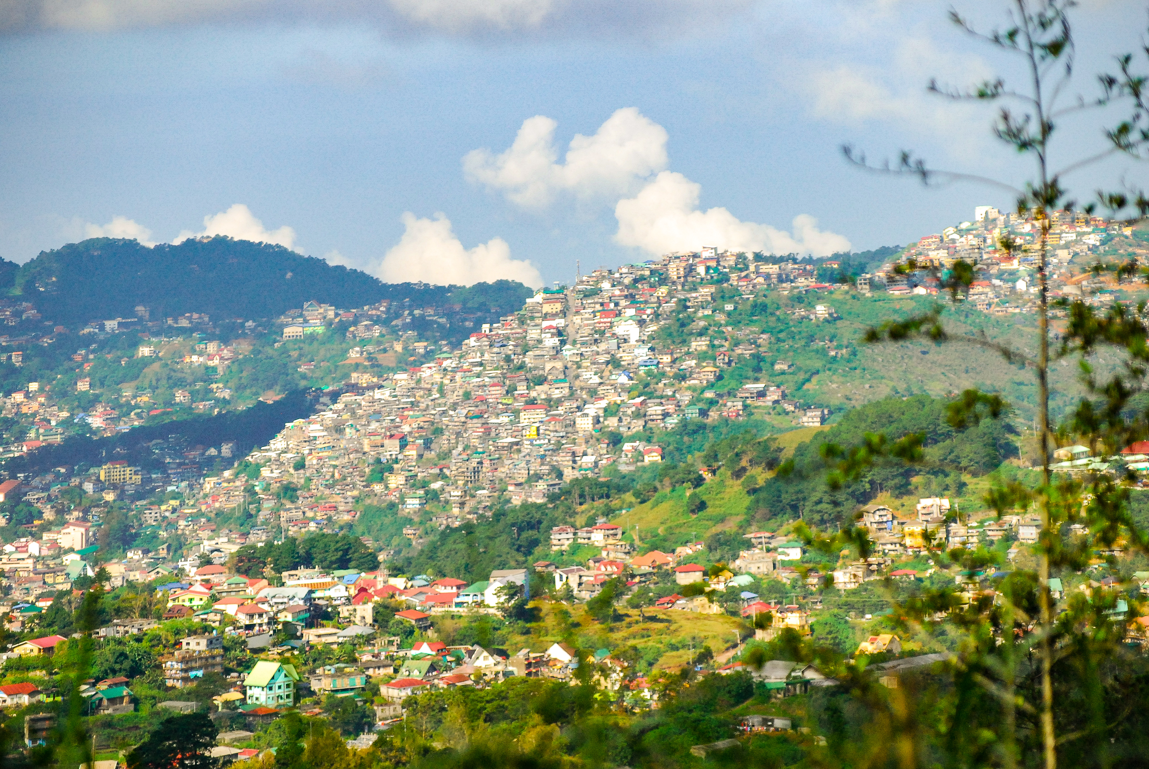 Stunning view of Baguio City from Mines View Park