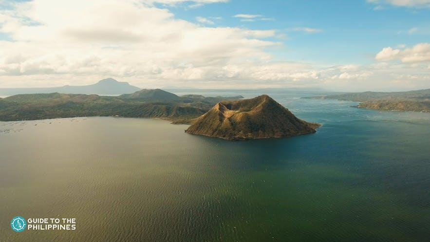 View of Taal Lake and Volcano in Tagaytay, Philippines