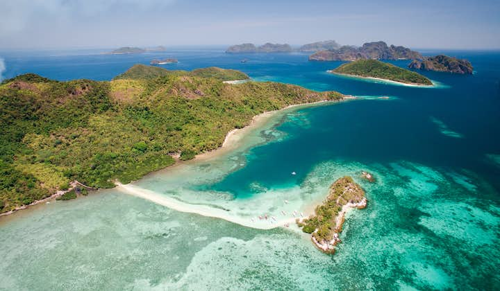 Aerial view of Snake Island