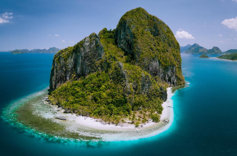 Aerial view of Pinagbuyutan Island